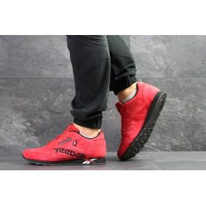 Замшеві кросівки Reebok Classic (червоні)