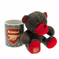 Набор чашка + мягкая игрушка Арсенал