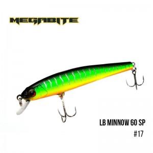 Воблер Megabite LB Minnow 60 SP 17