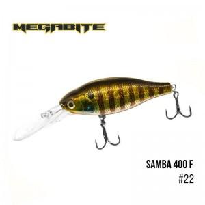 Воблер Megabite Samba 400 F 22