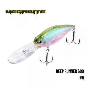 Воблер Megabite Deep Runner 600 F