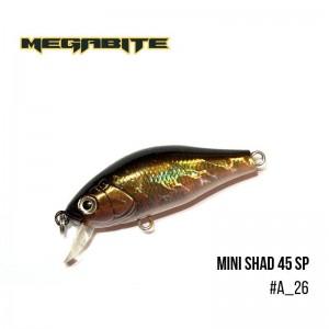 Воблер Megabite Mini Shad 45 SP A_26