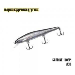 Воблер Megabite Sardine 110SP 31