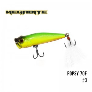 Воблер Megabite Popsy 70 F 3
