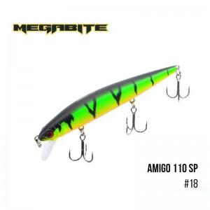 Воблер Megabite Amigo 110 SP 18