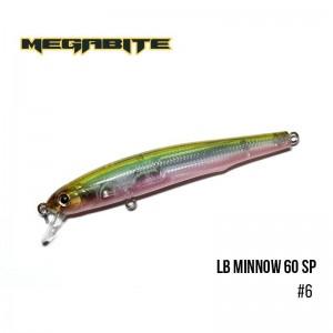 Воблер Megabite LB Minnow 60 SP 6