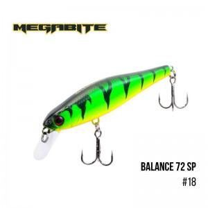 Воблер Megabite Balance 72 SP 18