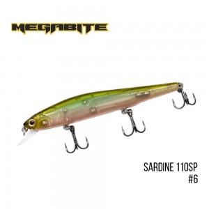 Воблер Megabite Sardine 110SP 6