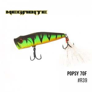 Воблер Megabite Popsy 70 F R39