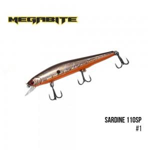 Воблер Megabite Sardine 110SP 1