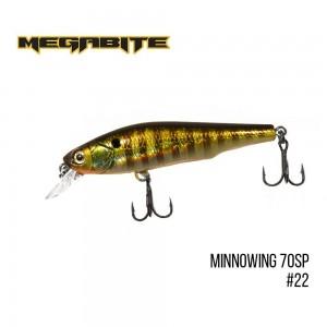 Воблер Megabite Minnowing 70 SP 22