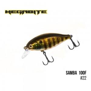 Воблер Megabite Samba 100 F 22
