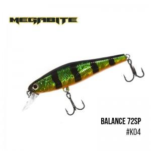 Воблер Megabite Balance 72 SP K04