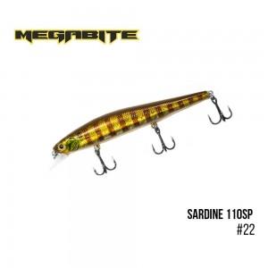Воблер Megabite Sardine 110SP 22