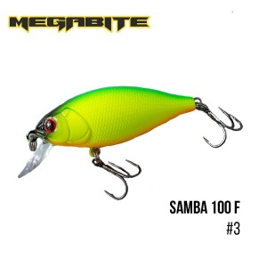 Воблер Megabite Samba 100 F 3
