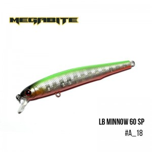 Воблер Megabite LB Minnow 60 SP A_18