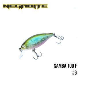 Воблер Megabite Samba 100 F 6